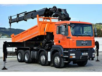 Camion benne MAN TGA 35.400 Kipper 5,00 m+KRAN/FUNK HIAB 600*8x4!