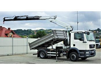 Camion benne MAN TGM 15.250 Kipper 3,50 m+KRAN !!!