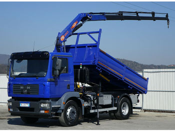 Camion benne MAN TGM 18.240 Kipper 4,30 m+KRAN/FUNK