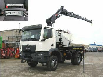 Camion benne MAN TGM 3 18.320 4x4 BB 2-Achs Allradkipper Kran