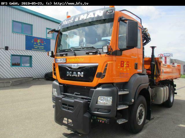 camion benne MAN TGS 18.480 4x4 BL Palfinger, WiDi