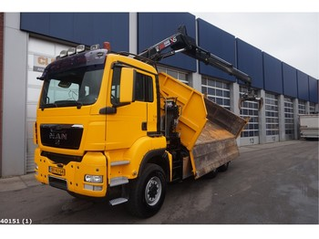 Camion benne MAN TGS 26.360 6x6 BB Hiab 14 ton/meter laadkraan