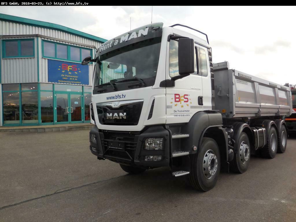 camion benne MAN TGS 35.440 8X4 BB Bordmatik links, Offroad-Paket