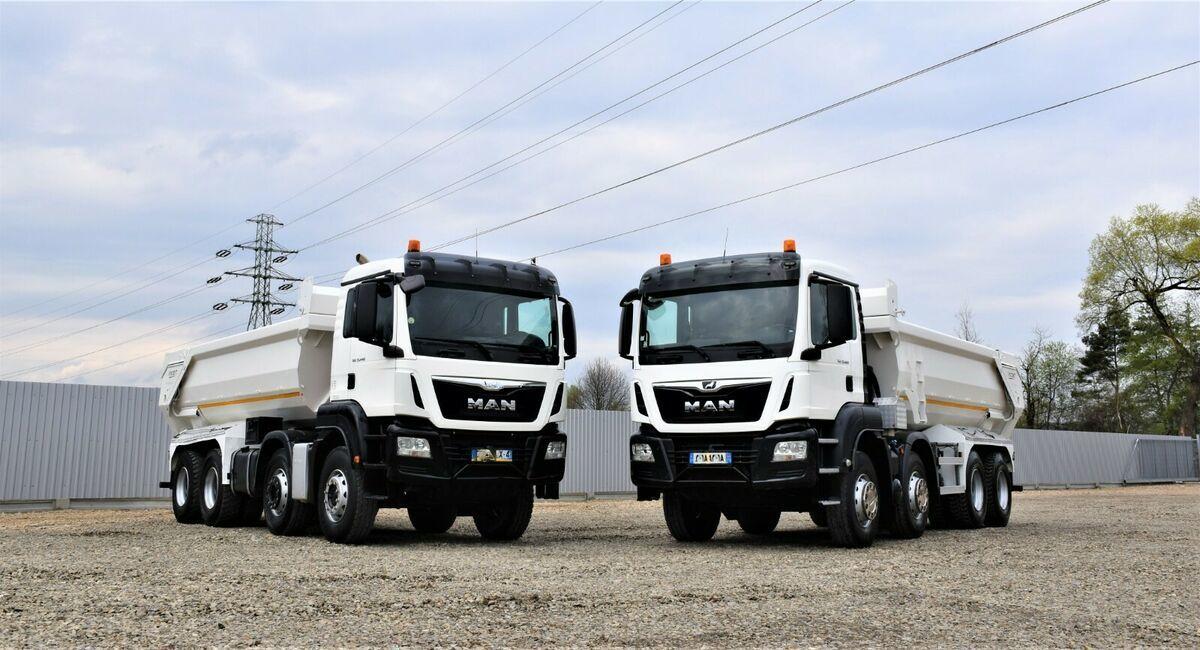 camion benne MAN  TGS 35.440 Kipper* 8x4*Topzustand!