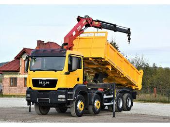 Camion benne MAN TGS 41.440 Kipper 6,20m + HMF 2223 K2/FUNK* 8x4