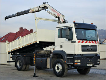 Camion benne MAN TG 310 A  Kipper 4,50m+Bordmatic/Kran*4x2!