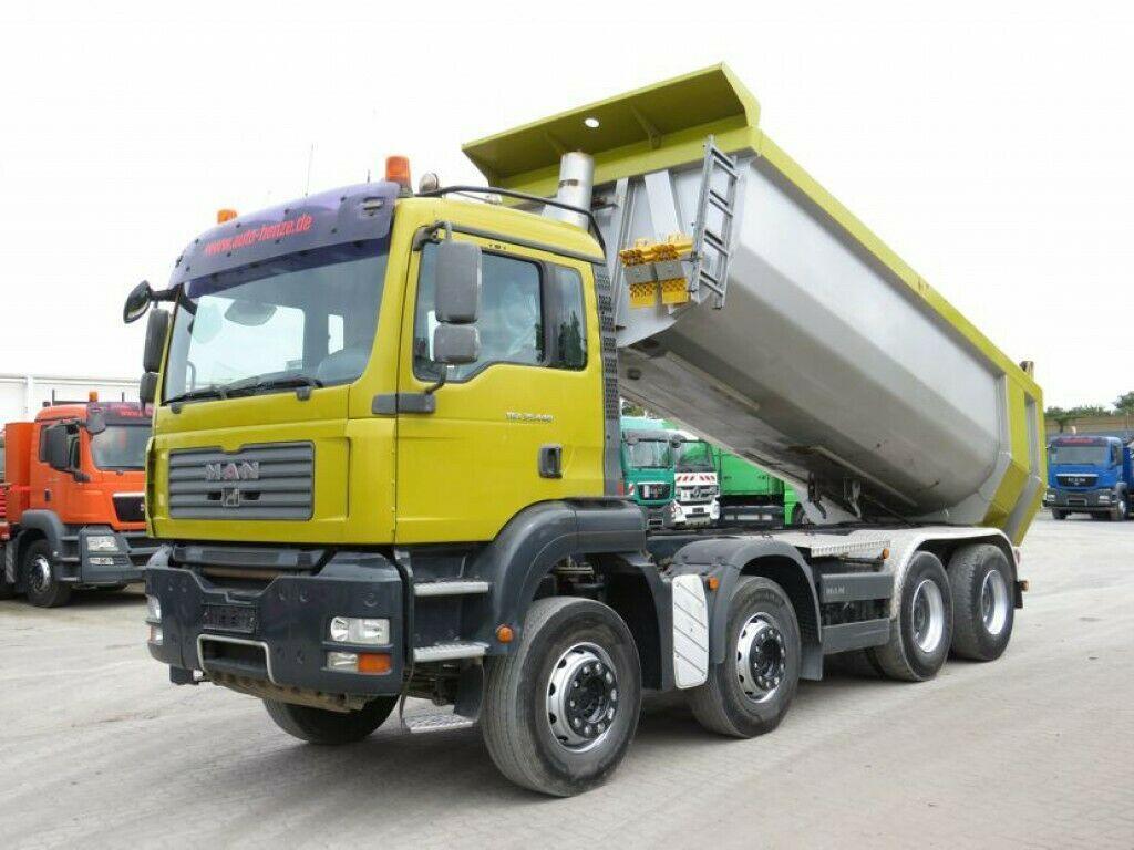camion benne MAN TG-A 35.440 8x4 BL 4 Achs Muldenkipper