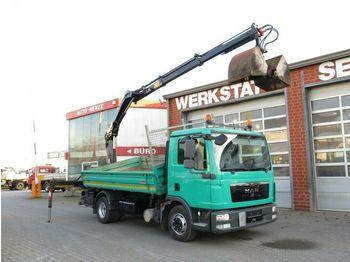 Camion benne MAN TG-L 12.180 4x2 BL 2-Achs Kipper Heckkran