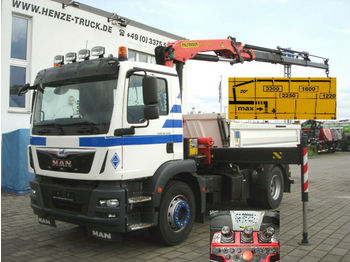 Camion benne MAN TG-M 18.340 4x2  2-Achs Kipper Kran 3x-hydr. +Fu