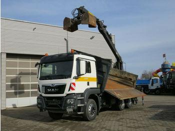 Camion benne MAN TG-S 26.420 6x4 3-Achs Kipper Heckkran Kesla 201