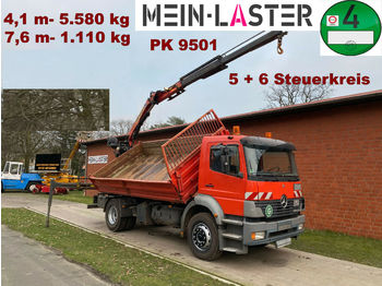 Camion benne Mercedes-Benz 1828 PK 9501 7,6 m- 1.1T  5+6 Steuerkreis