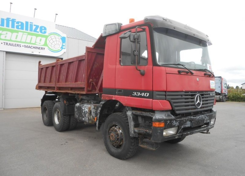 camion benne Mercedes-Benz Actros 3340 - 6x6 - full steel