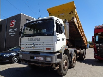 Renault G 340 8x4 222000 km - camion benne