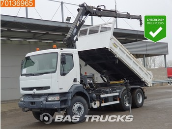 Renault Kerax 320 6X4 Crane HIAB 166BS-3 HIDUO with Remote Manual 2-Seiten - camion benne