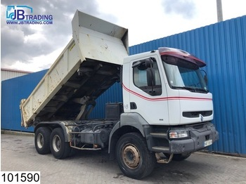 Renault Kerax 340 6x4, EURO 2, Manual, Steel suspension, Airco, Hub reduction - camion benne