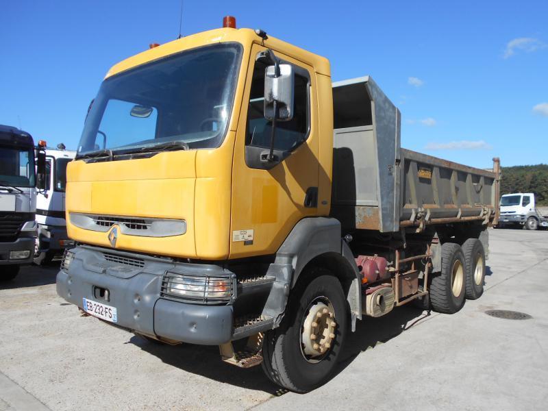 camion benne Renault Kerax 385