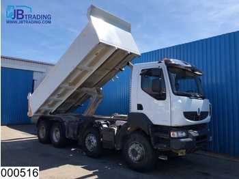 Renault Kerax 520 8x4, EURO 5, Steel suspension, Airco, Hub reduction - camion benne