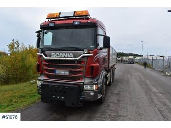 SCANIA R480 8x4 Tipp Truck Plow Equipped - camion benne