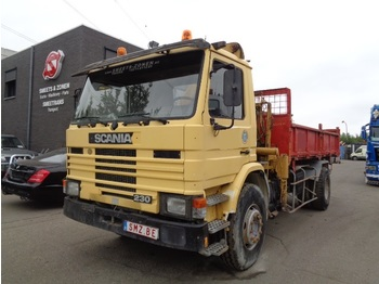 Camion benne Scania 93 230 lames benne/grue