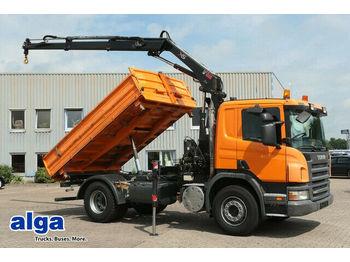 Camion benne Scania R280CB4x2, Hiab 099, Funk, Euro 5, Klima, AHK