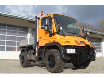 Camion benne Unimog 300 - U300 mit Werner HZW + Heckkraftheber