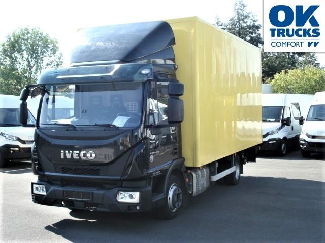 camion fourgon IVECO Eurocargo 75E16 Eurotronik, 5m-Koffer, H 2,48m