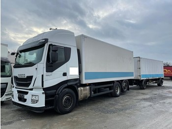 Iveco Stralis 460E6 6x2 Lenkachse Durchlader (43) - camion fourgon