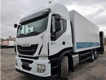 Iveco Stralis 460E6 6x2 Lenkachse Durchlader Stahlboden (43) - camion fourgon