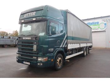 Scania 124 L 420 - Rail Sides - Lift - camion fourgon