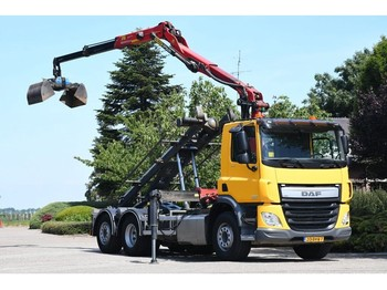 DAF CF 370 FAN !!Z-KRAAN/KABEL/CONTAINER!!2016/!!60tkm!!! - camion multibenne