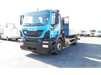 Camion plateau Iveco Stralis Hi-Street Euro6 Crane truck