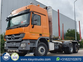 Mercedes-Benz ACTROS 3346 6x4 full steel eps - camion plateau