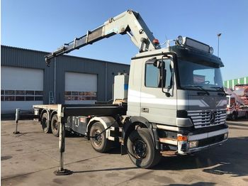 Camion plateau Mercedes-Benz ACTROS 4143 8X4 FULL STEEL EFFER 70 T/M REMOTE C