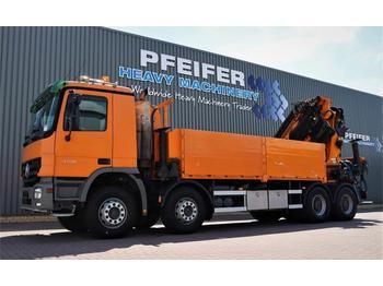 Camion plateau Palfinger PK85002 Mercedes Actros V8 4150, 8x4x4 Drive, 80t/