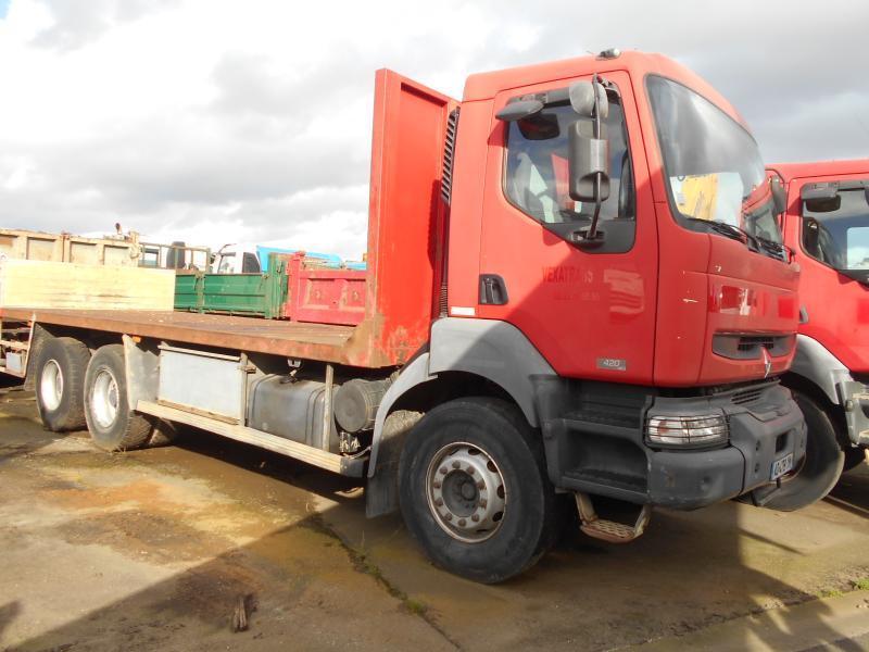 camion plateau Renault Kerax 420 DCI