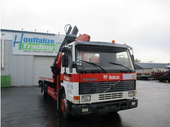Camion plateau Volvo FL7 - platform + crane