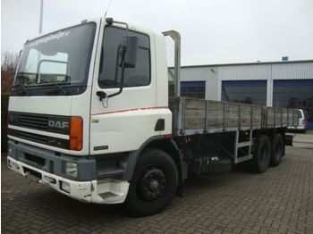 Camion plateau ridelle DAF daf75 270pk ati 6x2 ful steel springs 10 tyres , BOX 7.70 L