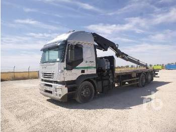 IVECO STRALIS 270 6x2 - camion plateau ridelle