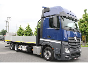 MERCEDES-BENZ ACTROS 2542 BDF LOW DECK MEGA NEW FLATBED BOX - camion plateau ridelle