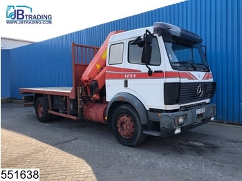 Mercedes-Benz 1733 EPS 16, Palfinger crane, Steel suspension, Hub reduction - camion plateau ridelle