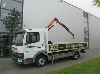 Mercedes-Benz ATEGO 815 4X2 WITH PALFINGER PK2408  - camion plateau ridelle