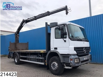 Mercedes-Benz Actros 1832 EPS 16, 3 pedals, Hiab crane, Remote, Hook, Steel suspension, Hub reduction, euro 4 - camion plateau ridelle
