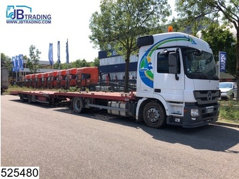 Mercedes-Benz Actros 1836 EURO 5, Airco, Powershift, Winch, trailer hydraulic liftable - camion plateau ridelle