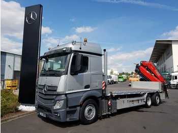 Mercedes-Benz Actros 2548 LL 6x2 Containerpritsche/Kran Funk  - camion plateau ridelle