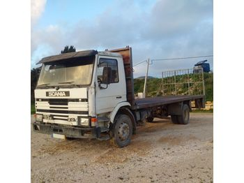 SCANIA 93M 210 left hand drive 17 ton on springs - camion plateau ridelle
