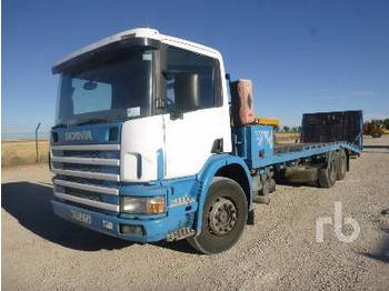 SCANIA P114GB340 6x2 - camion plateau ridelle