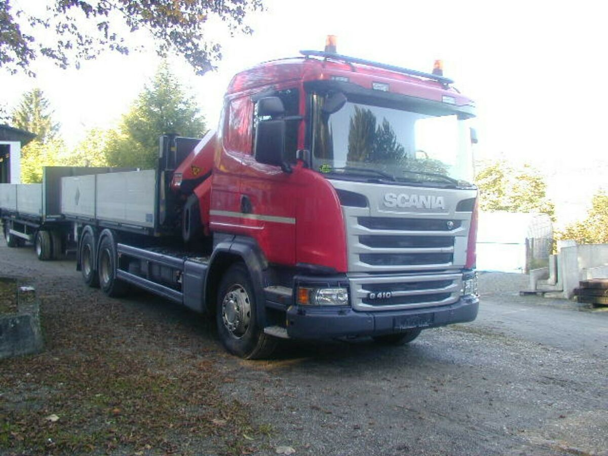 camion plateau ridelle Scania G410