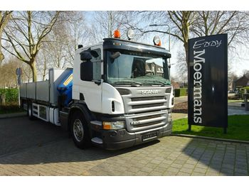 Camion plateau ridelle Scania P230 Cp 16