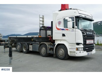 Scania R520 - camion plateau ridelle