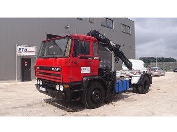 Camion porte-conteneur/ caisse mobile DAF 2100 (HIAB CRANE / FULL STEEL/ HOLLAND TRUCK)